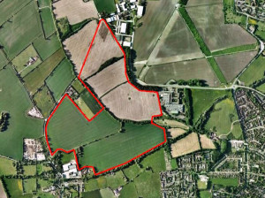 West Wantage - Aerial location plan of the land