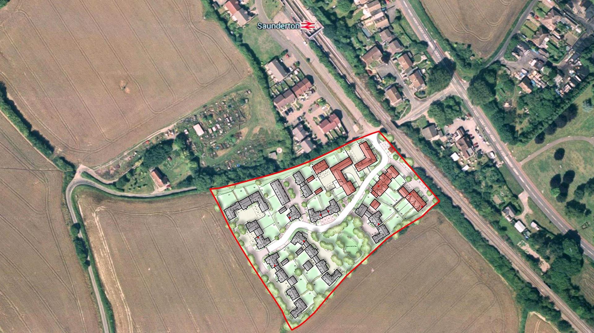 Saunderton Site Location Overlay - Dandara Strategic Land Project