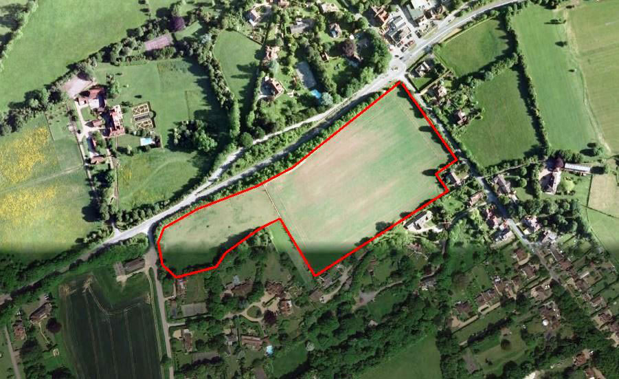 West Horsley aerial Location near Guildford plan
